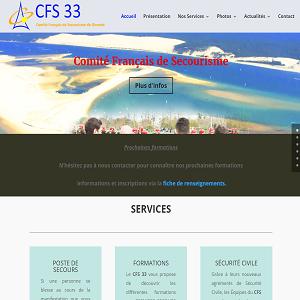 Capture d'écran du site cfs33.fr